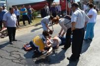 Milas'ta Motosiklet İle Kamyonet Çarpıştı; 1 Yaralı