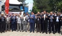 İÇ SAVAŞ - Osmangazi'den Suriye'ye Yardım Tırları Dualarla Uğurlandı