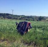 Kontrolden Çıkan Otomobil Tarlaya Uçtu Açıklaması 6 Yaralı