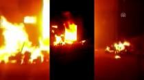 Çorum'da Yumurta Viyolü Fabrikasında Yangın