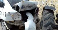 Midyat'ta Traktör Park Halindeki 3 Araca Çarptı Açıklaması 1 Yaralı