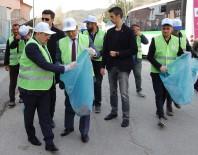 Vali Yelek Giyip Eldiven Takarak Çöp Topladı