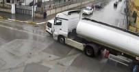ASKERLİK ŞUBESİ - Erzincan'daki Trafik Kazaları Kamerada