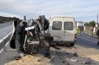 SOMA - Manisa'da 3 Araç Birbirine Girdi Açıklaması 9 Yaralı