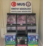Muş'ta Şarj İstasyonu Görüntüsü Verilen Kumar Makineları Ele Geçirildi