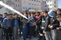 Şuhut'da İtfaiye Ekipleri Yangın Tatbikatı Düzenledi