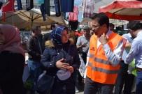 MÜCAHİT ARSLAN - Dr. Ender Saraç Pazarda Vatandaşa Sağlıklı Beslenmenin Yollarını Anlattı