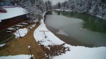 Limni Gölü'nde İlkbaharda Kar Havadan Görüntülendi