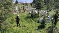 KULLAR - Başiskele Mezarlıklarında Ot Temizliği