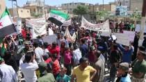 AY YıLDıZ - Cerablus'ta YPG/PKK Protesto Edildi