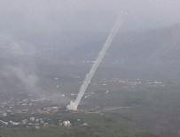 ALAY KOMUTANLIĞI - Derecik'ten PKK'nın Hakurk kampına yoğun top atışı