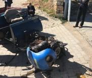 ÇAPA MOTORU - Gölbaşı'nda Çapa Motoru Devrildi