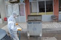 DEZENFEKSİYON - Şuhut Belediyesi Çöp Konteynırlarını Dezenfekte Ediyor