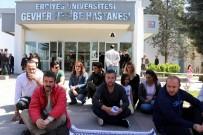 İŞ GÜVENCESİ - Kadroya Geçmeyi Beklerken İşten Çıkarılan İşçiler 'Oturma' Eylemi Yaptı