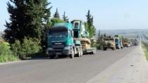 ASKERİ KONVOY - TSK Unsurları, İdlib'de Yeni Ateşkes Gözlem Noktası Tesis Etti