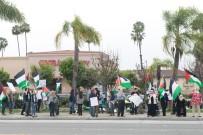 GÖZ YAŞARTICI GAZ - ABD'de 'Özgür Filistin' Eylemi