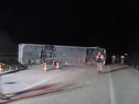 Yolcu Otobüsü Devrildi Açıklaması 1 Ölü, 20 Yaralı