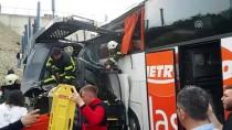 YOLCU OTOBÜSÜ - Anadolu Otoyolu'nda Zincirleme Trafik Kazası
