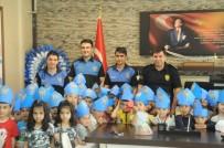 Cizre'de Minik Öğrencilerden Emniyete Ziyaret