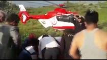 Dağlık Alandaki Yaralı Çocuk Ambulans Helikopterle Alındı