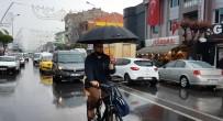 Düzce'de Bir Anda Bastıran Yağış Etkili Oldu