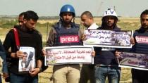 MÜLTECİ KAMPI - İsrail Askerleri Gazze'de Gazetecilerin Gösterisine Gazla Müdahale Etti