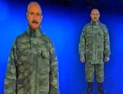 Kılıçdaroğlu'na kamuflaj giydirdiler