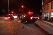 ERKILET - Takla Atan Otomobilin Sürücüsü Kaza Yerinden Kaçtı
