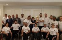 TEKERLEKLİ SANDALYE BASKETBOL - Avrupa Şampiyonlarından Fatma Şahin'e Ziyaret