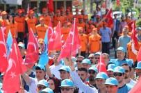 TAŞERON İŞÇİ - İşçi Ölümlerini Protesto Etmek İçin Soyunup Yere Yattılar