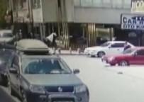 GÜRAĞAÇ - Konya'da Kurye Aracından Para Çalan Soyguncu Kamerada