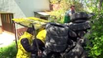LASTİK TAMİRCİSİ - Lastiklerin Arasından Çıkamayan Yavru Köpekler Kurtarıldı