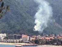 İÇMELER - Marmaris'te orman yangını!