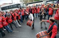 METAL İŞ - Nakliyat İş Ve Birleşik Metal İş Üyeleri, Taksim'e Yürüyüşe Geçti