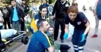 MERINOS - Elektrikli Motosikletin Çarptığı Kadın Yaralandı
