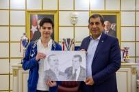 CEYLANPINAR - Küçük Ressamdan Başkan Atilla'ya Ziyaret