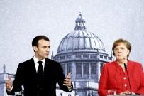 EMMANUEL MACRON - Merkel Ve Macron'dan İsrail Ve İran'a Çağrı