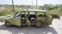 TARIM İŞÇİSİ - Tarım İşçilerini Taşıyan Otomobil Kaza Yaptı Açıklaması 8 Yaralı