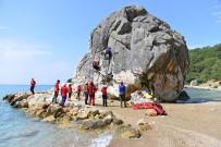 TATBIKAT - Antalya'da Gerçeğini Aratmayan Kurtarma Tatbikatı