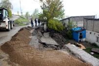 DOLU YAĞIŞI - Erzurum'da Doluyla Karışık Sağanak Yağış Etkili Oldu