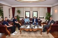TEKERLEKLİ SANDALYE BASKETBOL - Tekerlekli Sandalye Basketbol Takımından Vali Çeber'e Ziyaret
