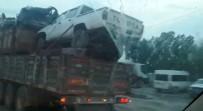 Araç Yüklü TIR Trafikte Tehlike Saçtı