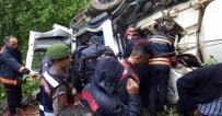 FARABI - Beton Mikseri Devrildi Açıklaması 2 Yaralı