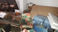 Midyat'ta Etkili Olan Yağış Bodrum Katındaki Evin Eşyalarını Kullanılamaz Hale Getirdi