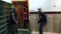 Camide Doğuran Kedi Ve Yavruları İtfaiyeciler Tarafından Başka Yere Nakledildi