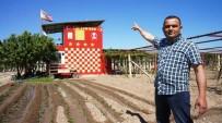 FANATİK TARAFTAR - Fanatik Taraftar Bağ Evini Sarı Kırmızı Boyadı