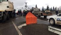 YAĞMURLU - Kars'ta Trafik Kazası Açıklaması 1 Yaralı