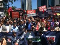 SIYAH ÇELENK - AK Partili Gençlerden İsrail Konsolosluğu Önünde Protesto