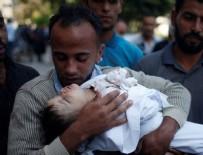 Gazze'de Filistinli bir bebek şehit oldu