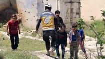 REJİM KARŞITI - İdlib'e Hava Saldırısı Açıklaması 2 Ölü, 2 Yaralı